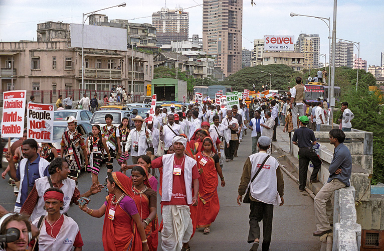 Adivasi demonstrieren in Mumbai, Maharashtra